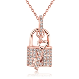 Ericdress Sweet Love Key & Lock Pendant Necklace