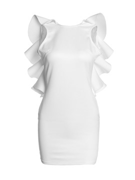 Ericdress Falbala-Trim BacklessSleeveless Bodycon Dress