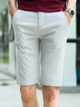 Ericdress Half Leg Simple Plain Straight Slim Men's Shorts