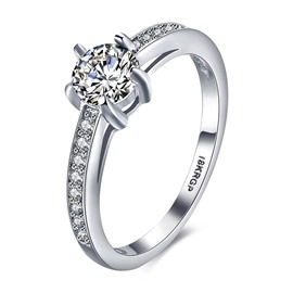 Ericdress Exquisite Round Cut White Sapphire Wedding Ring