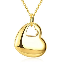 Ericdress Fashionable K Gold Heart Pendant Necklace