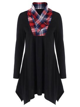 Ericdress Plaid Pleated Loose Comfy T-Shirt