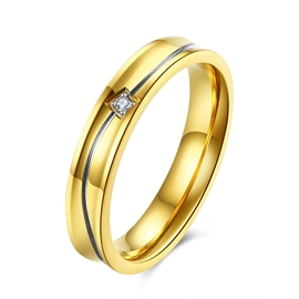 Ericdress High Quality Diamante Titanium Steel Ring