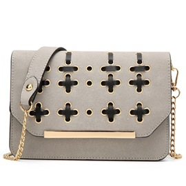 Ericdress Hollow Cross Nubuck Leather Shoulder Bag