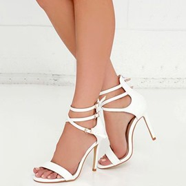 Buckle Open Toe Stiletto Heel Sandals