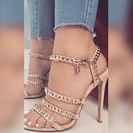 Ericdress Chain Buckle Stiletto Heel Sandals