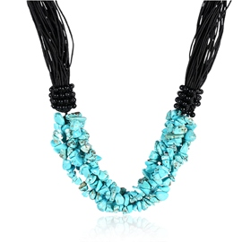 Ericdress Creative Green Stone Multilayer Necklace