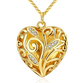 Ericdress Classic Hollow Out Necklace with Heart Pendant