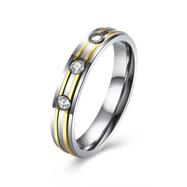 Ericdress Three Rouond Cut White Sapphire Ring