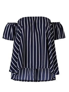 Ericdress Off-Shoulder Vertical Striped Sexy Blouse