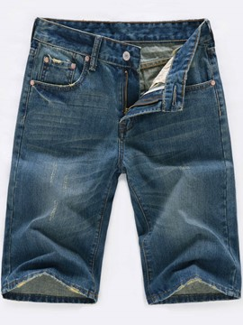 Ericdress drucken halb Bein Denim Casual Herren Shorts