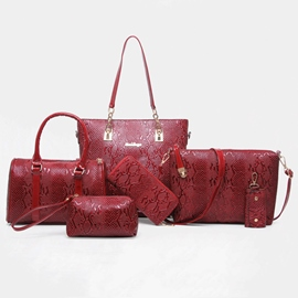 Ericdress European Curvy Embossing Handbags(5 Bags)