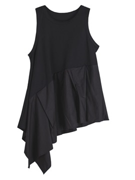 Ericdress Frill Oversized Patchwork Tank Top