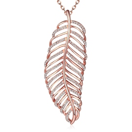 Ericdress Luxurious Leaf Pendant Rose Gold Necklace