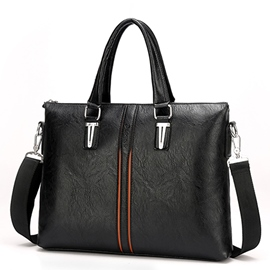 Ericdress Decent Solid Color Men's Business Handbag
