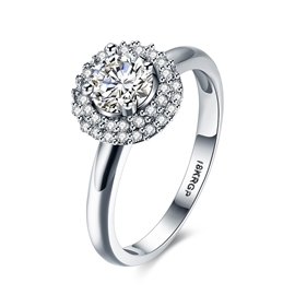 Ericdress Round Cut White Sapphire Women's Ring