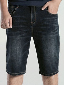 Ericdress Denim Straight Slim Men's Shorts