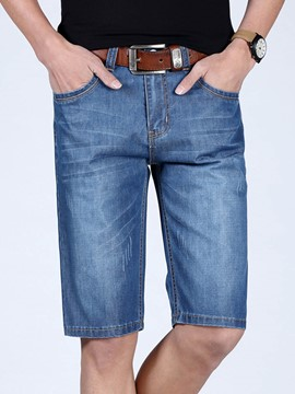 Ericdress Straight Casual Denim Men's Shorts