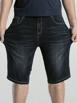 Ericdress Half Leg Straight Zip Denim Casual Men's Shorts