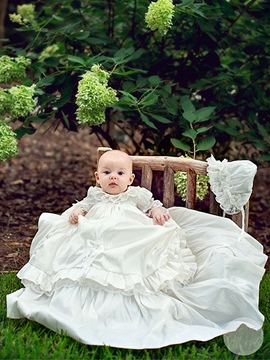 Ericdress Lovely Christening Gown with Bonnet