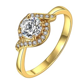 Ericdress Round Cut White Sapphire Wedding Ring