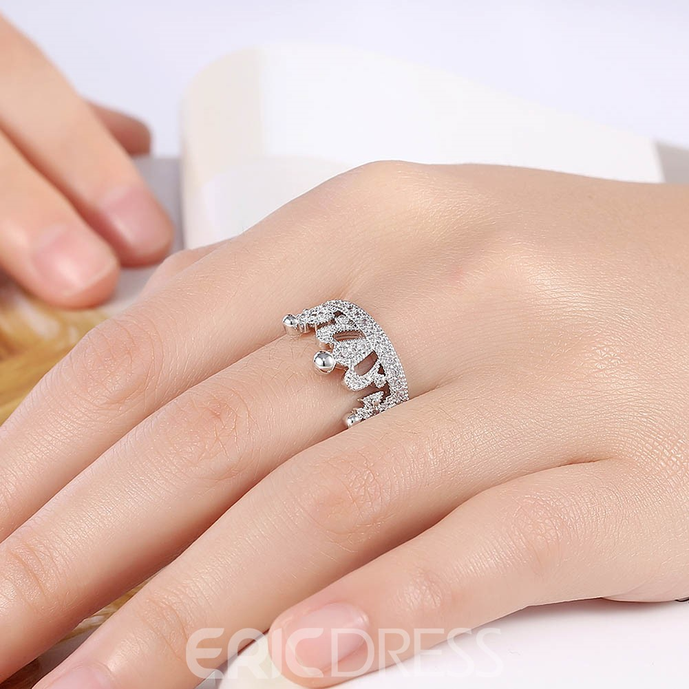 Ericdress Crown Adjustable Wedding Ring for Women