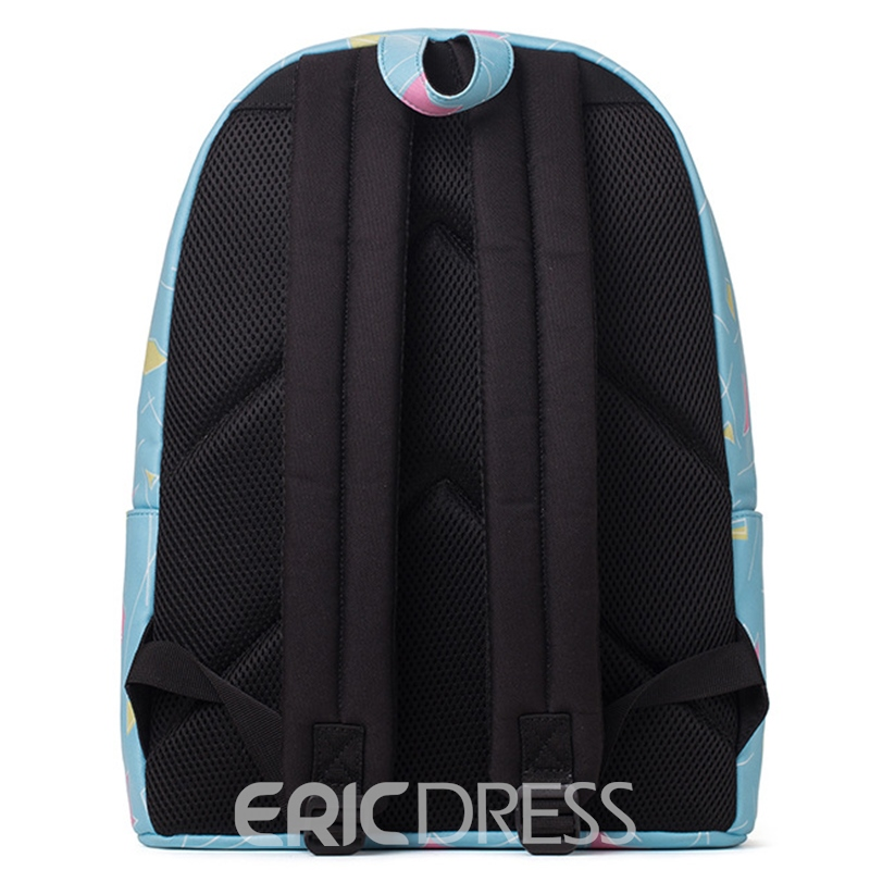 Ericdress Fresh Geometric Print Backpack