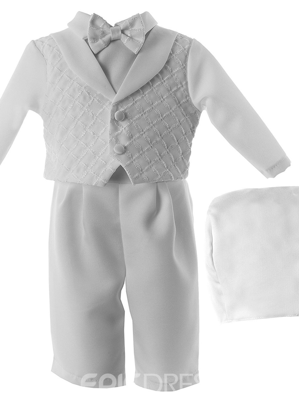 Ericdress 3 Pieces Baby Boy's Christening Gown with Headpiece