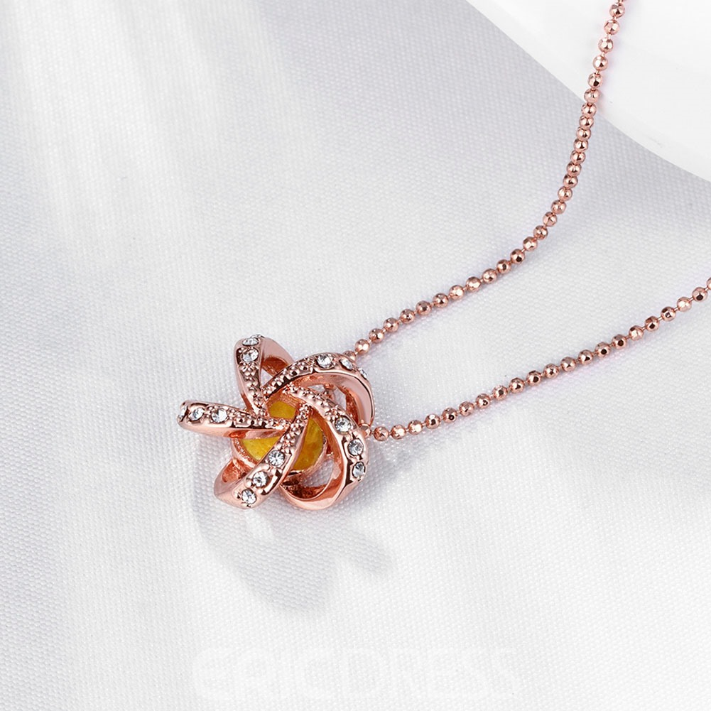Ericdress Personality Hollow Out Flower Pendant Necklace