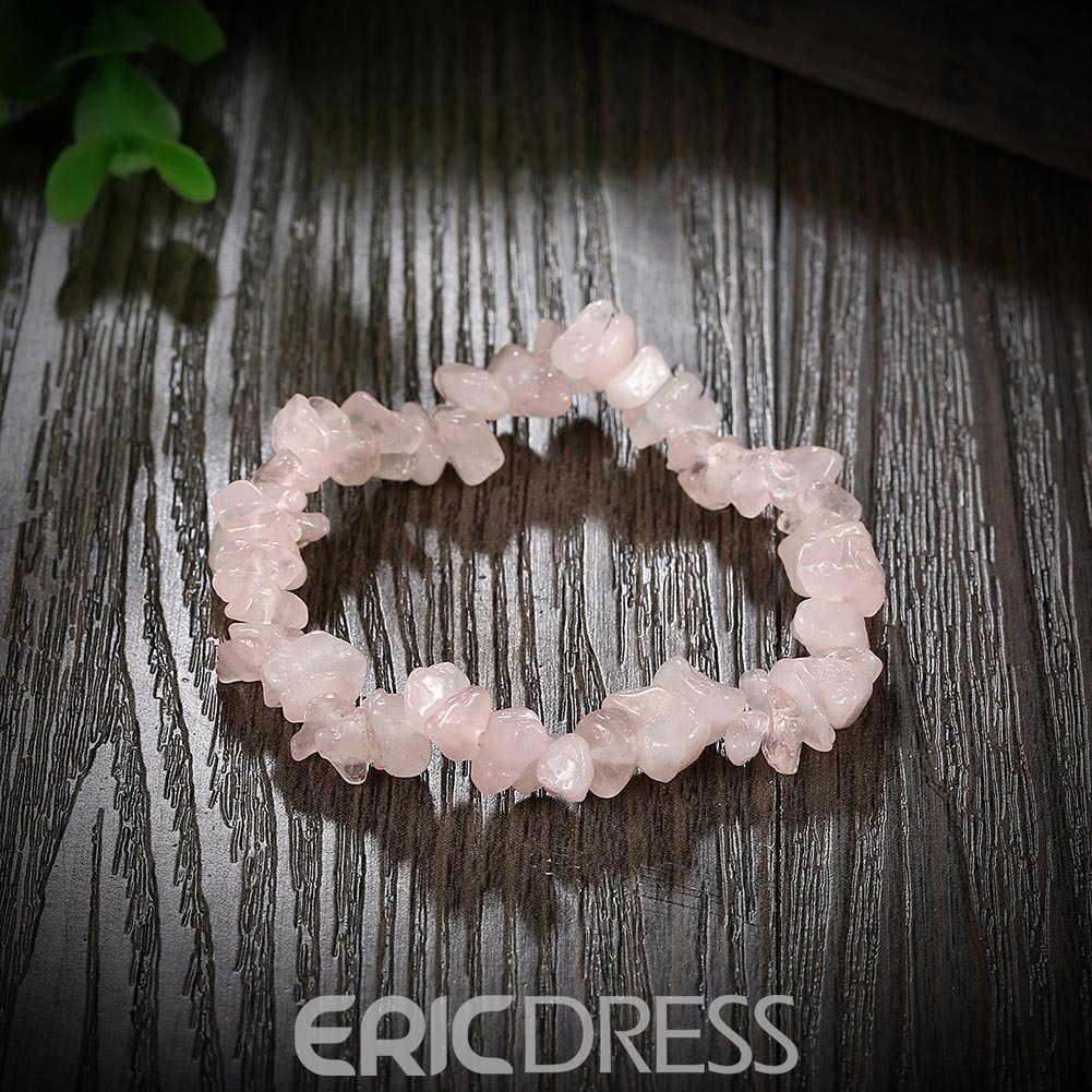 Ericdress Ladylike Pink Stone Decorated Bracelet