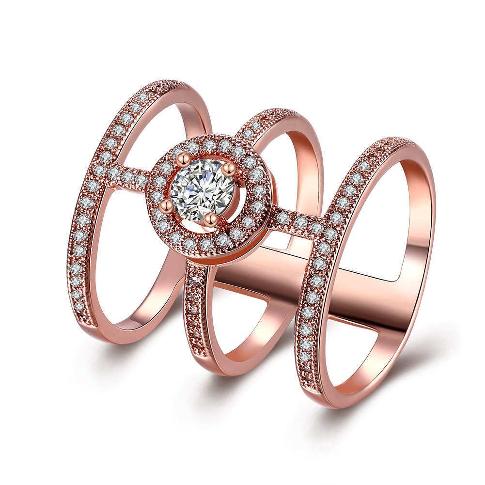 Ericdress Trendy Unique Design Rose Gold Ring