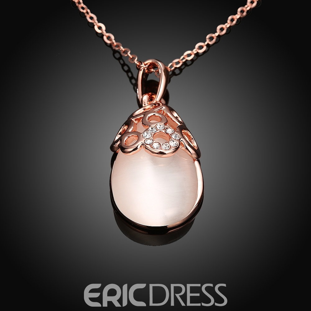 Ericdress Graceful Opal Pendant Diamante Women's Necklace