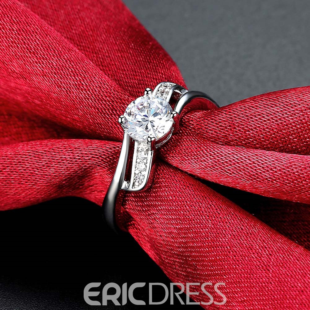 Ericdress Twisted Design White Sapphire Wedding Ring