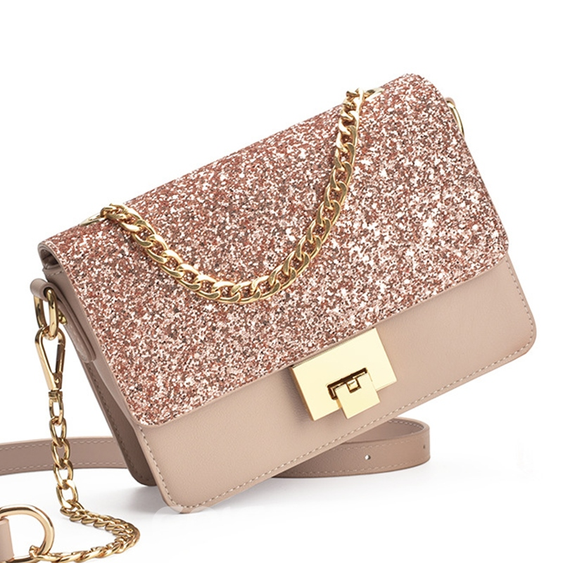 Ericdress Stylish Sequins Embellished Crossbody Bag
