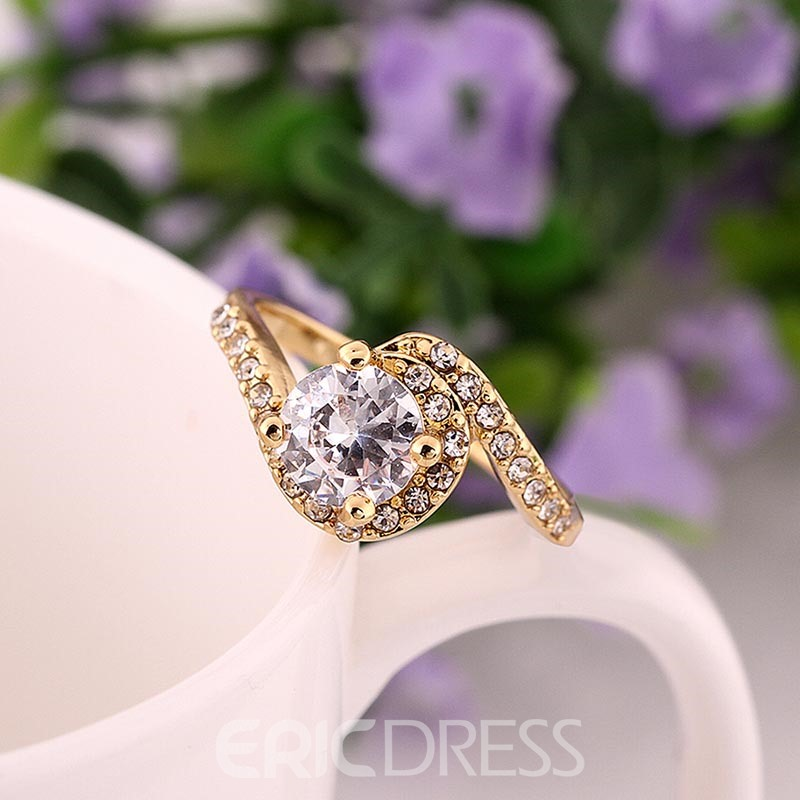 Ericdress Prong Setting Round Cut White Sapphire Wedding Ring