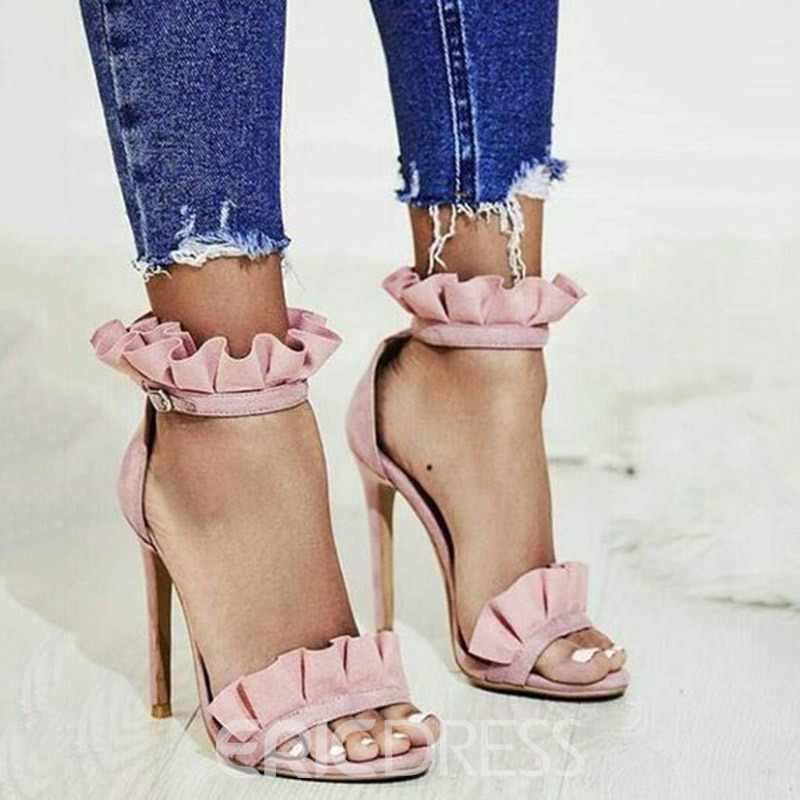 Ericdress Open Toe Stiletto Heel Sandals