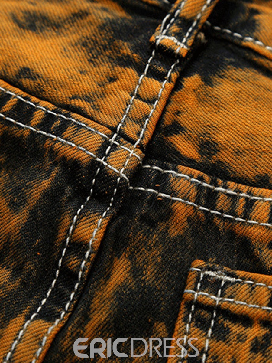 Ericdress Unique Denim Holes Pocket Patched Casual Men's Pants
