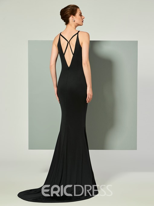Ericdress Straps Mermaid Evening Dress With Criss-Cross Back