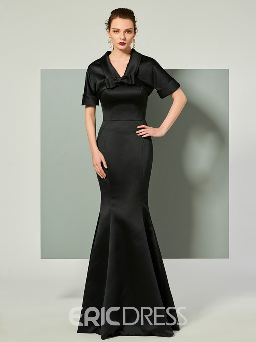 Ericdress Strapless Mermaid Evening Dress With Short Sleeve Jacket