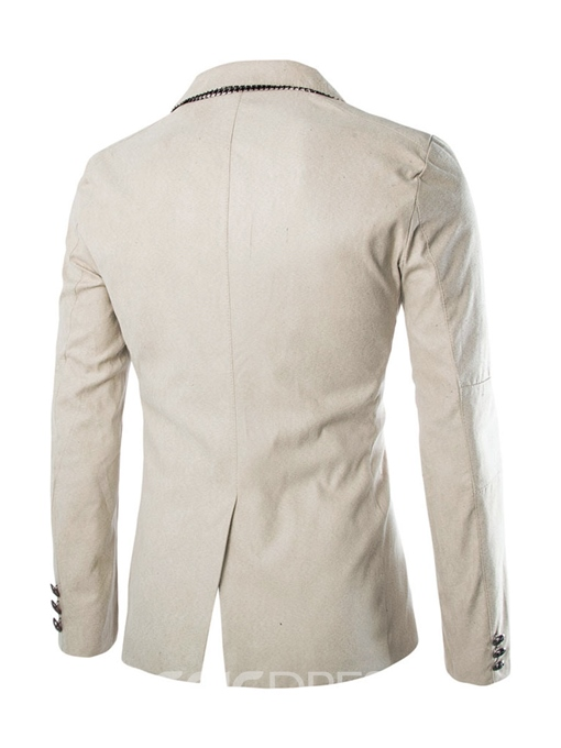 Ericdress Plain Lapel Pocket Casual Slim Men's Blazer