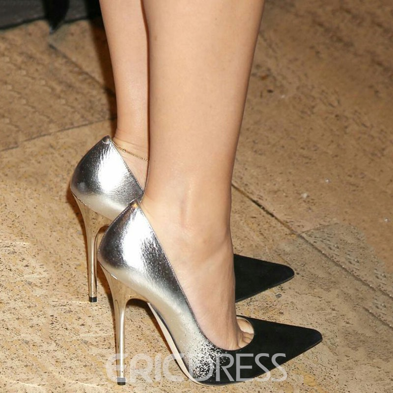 Ericdress Color Block Pointed Toe Pumps