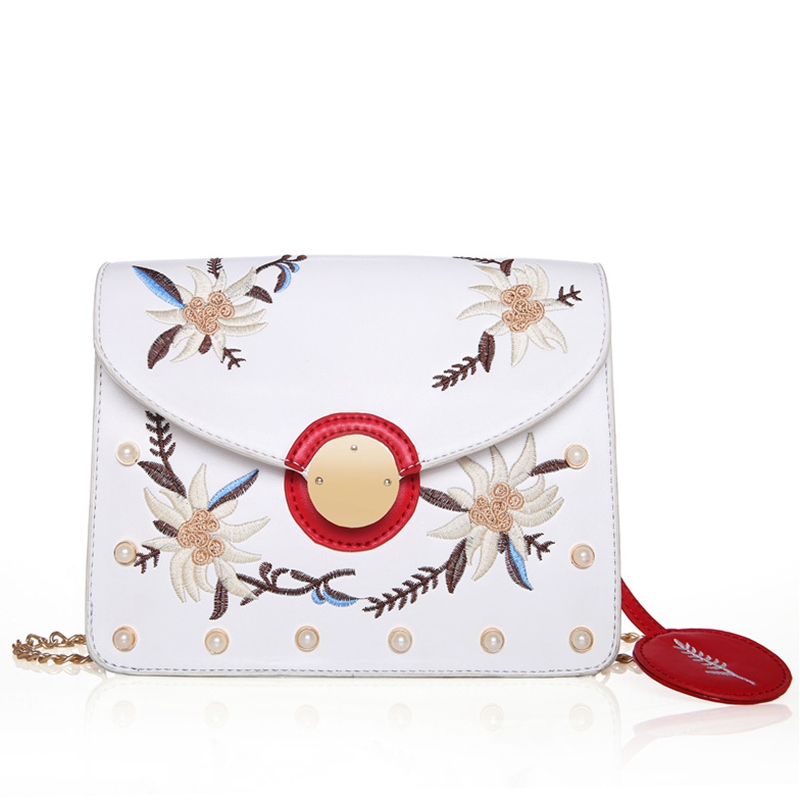Ericdress Ladylike Gardenia Embroidery Crossbody Bag