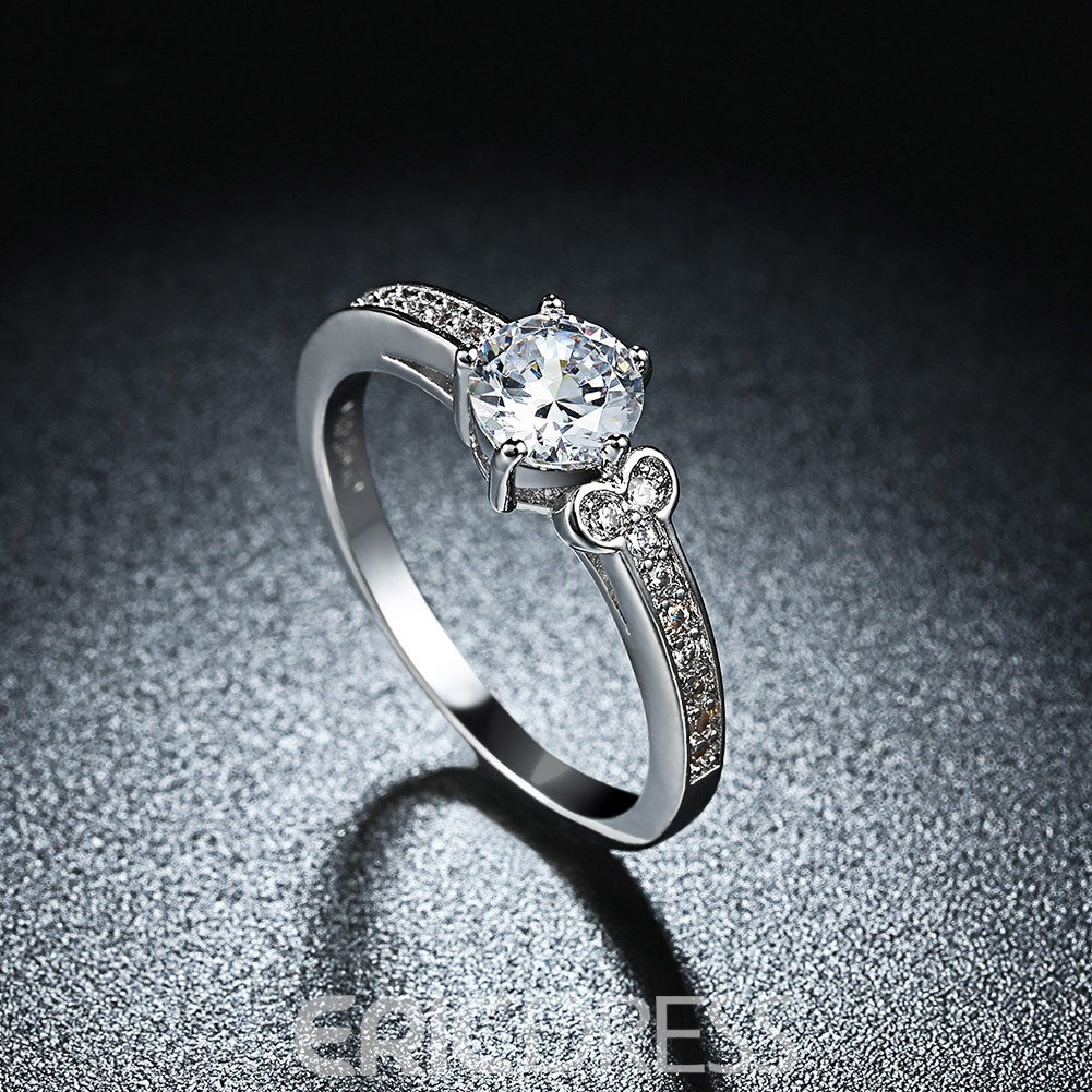 Ericdress Fully-Jewelled Prong Setting Wedding Ring