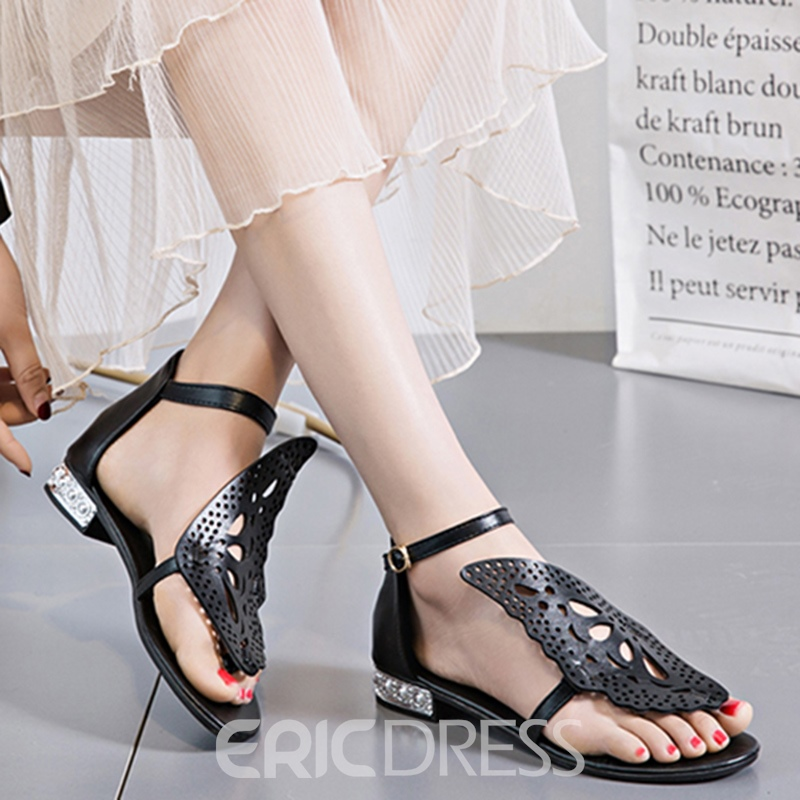 Ericdress Butterfly Decorated Flat Sandals