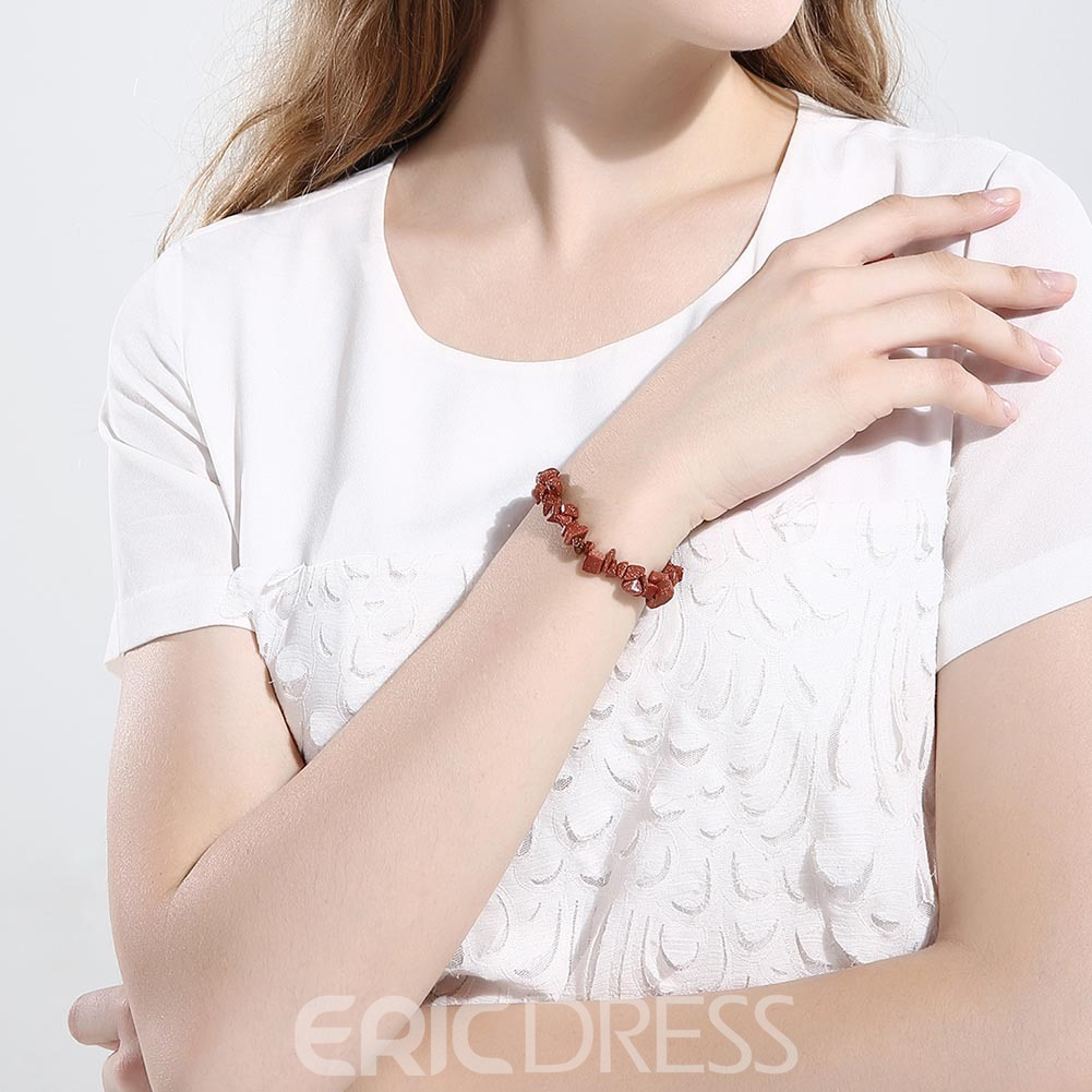 Ericdress Brief Solid Color Stone Fashion Bracelet
