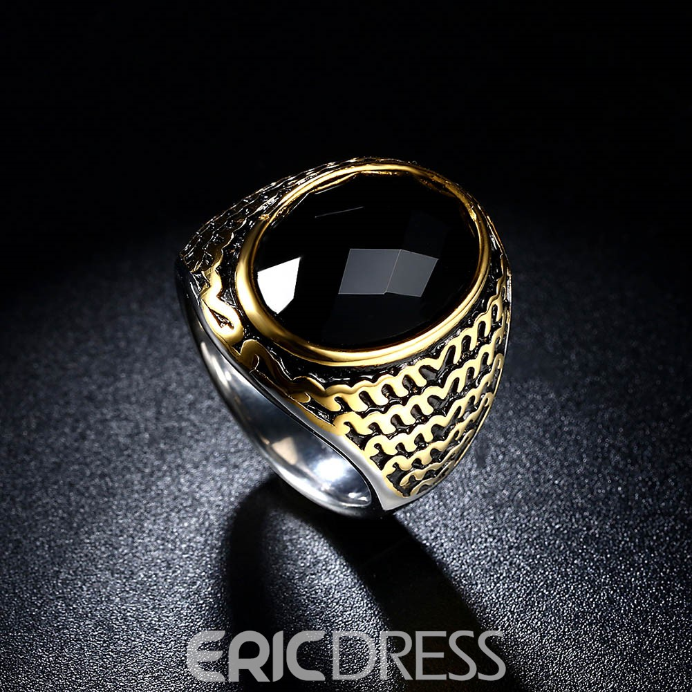 Ericdress Stainless Steel Ring for Men
