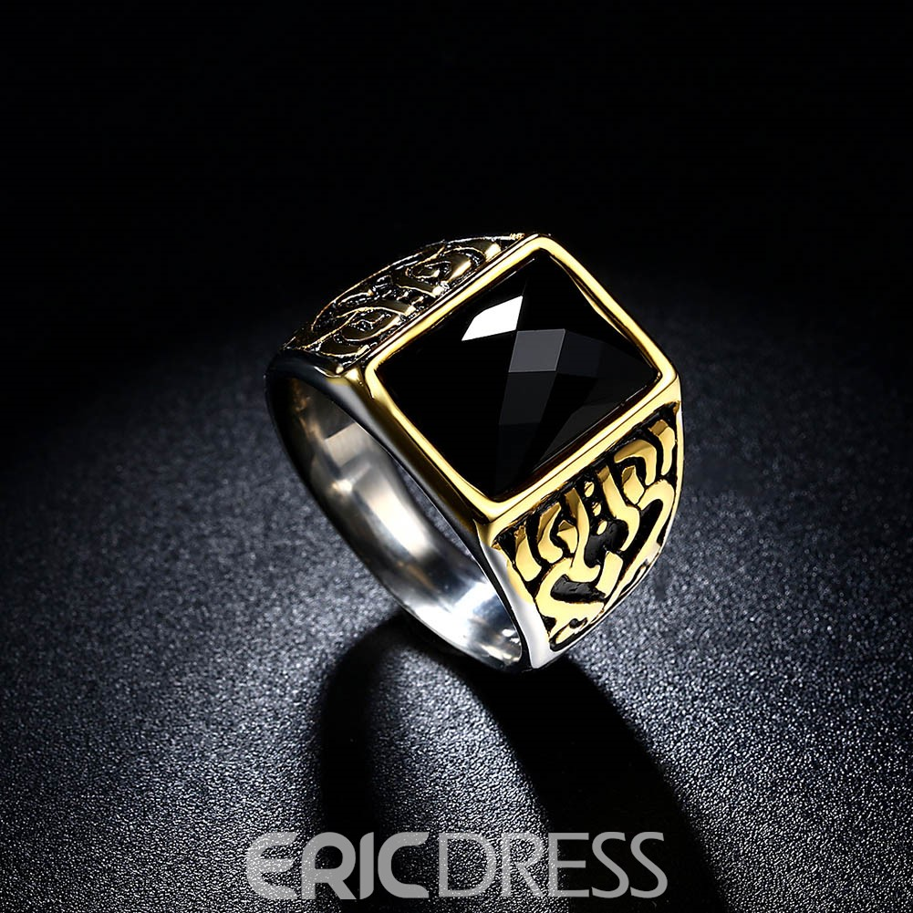 Ericdress Titanium Steel Series Men's Ring