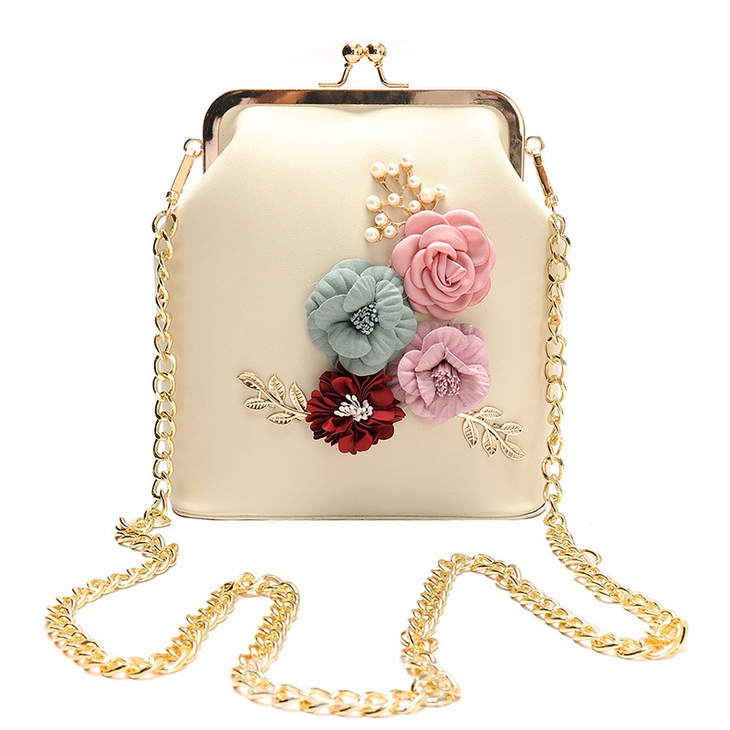 Ericdress Stereo Floral Decorated Clip Crossbody Bag