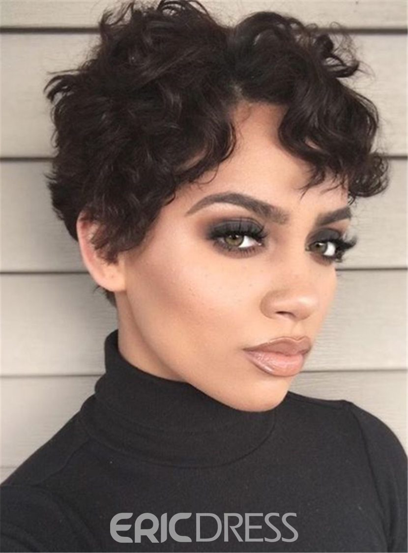 Ericdress Boycut Curly Pixie Short Synthetic Hair Lace Front African  American Wigs 6 Inches(13331624) 808dfcc4c