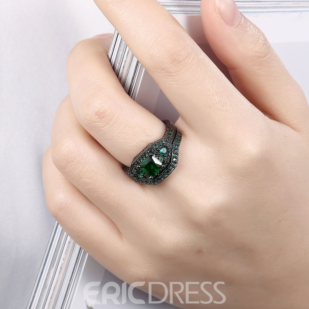 Ericdress Two-Pieces Emerald Sapphire Inlay Bridal Sets